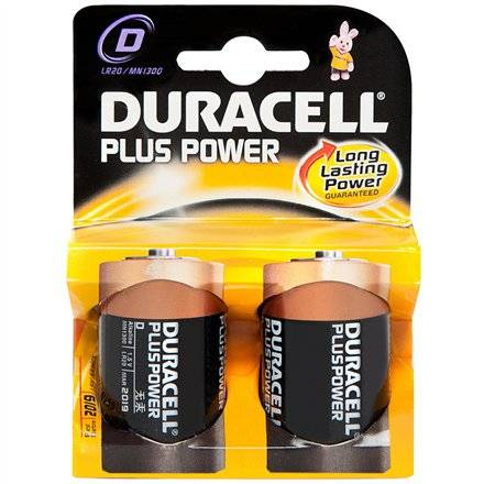 Duracell Plus Power Mn1300 D (Lr20), 2-Pack
