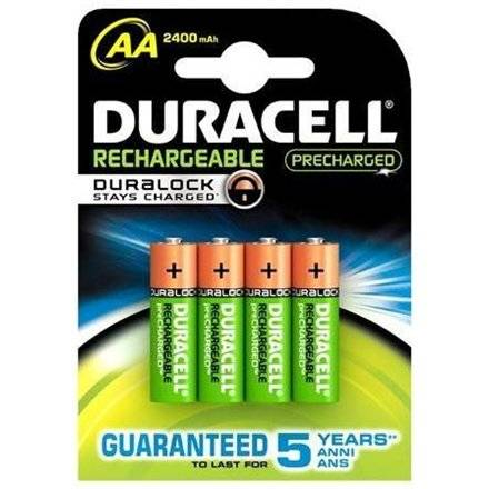 Duracell Rechargeable 2400mah Hr6 Aa (Lr6), 4-Pack