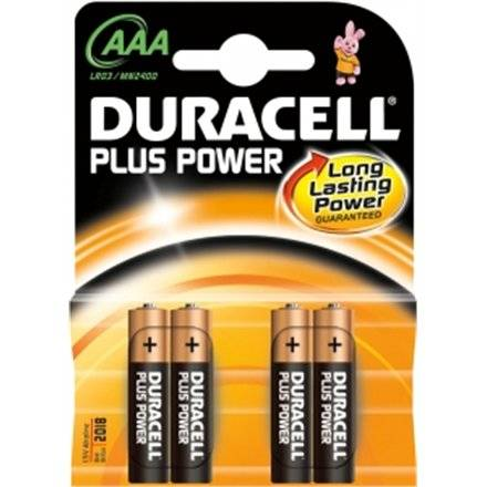 Duracell Plus Power Mn2400 Aaa (Lr03), 4-Pack