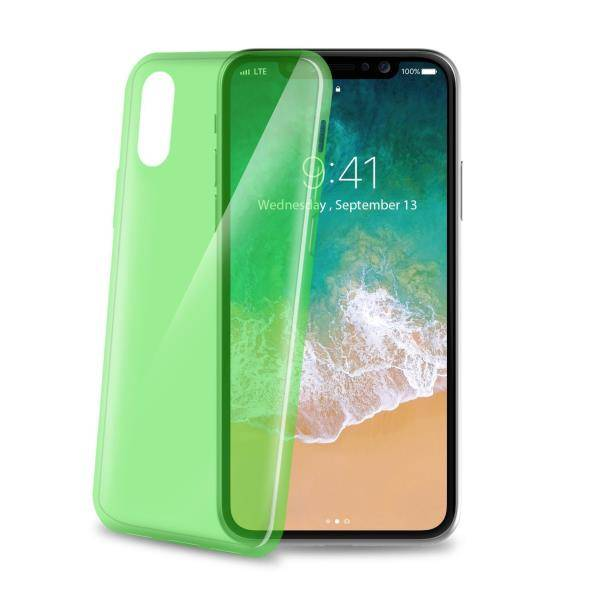 "Celly Ultrathin Back Case Iphone X"" Litght Green"