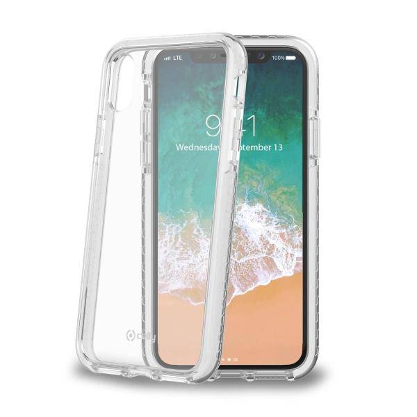 "Celly Hexagon Back Case Iphone X"" White"