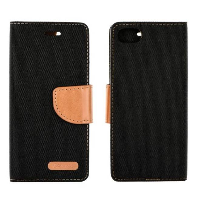 """FORCELL Canvas Flexi Book Case Galaxy J5 (2017)"""" Black/ Brown"""