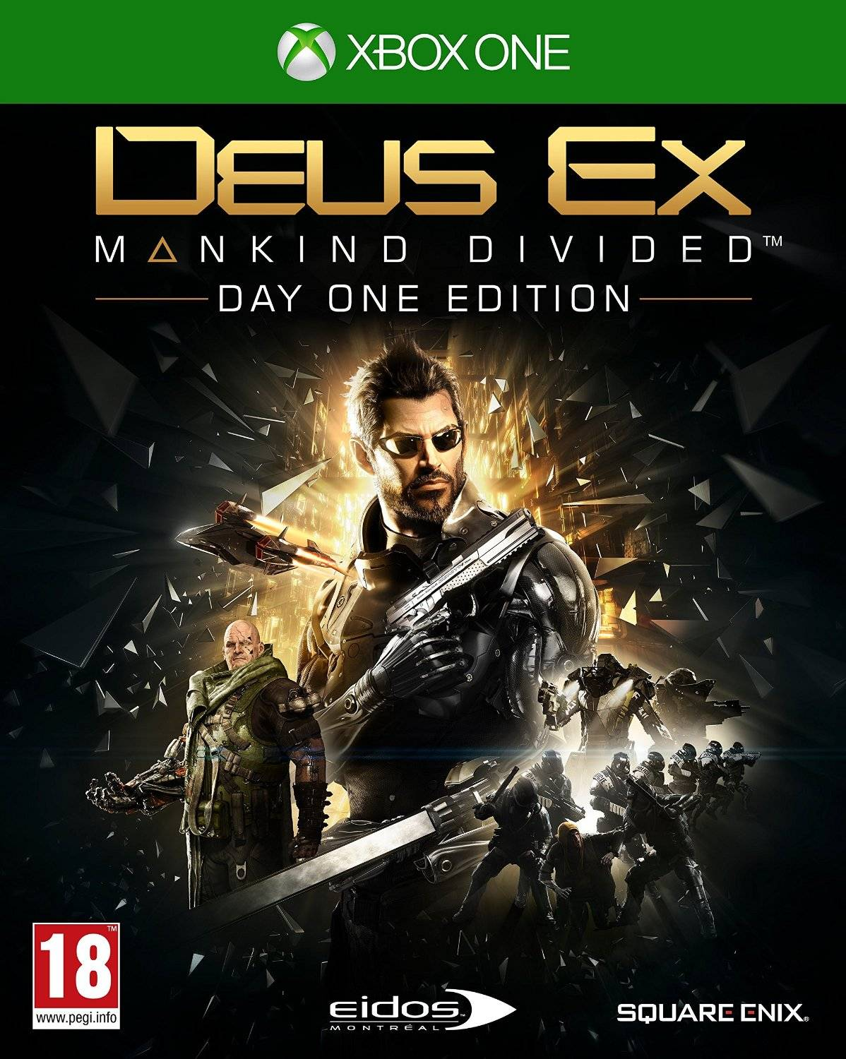 Square Enix Deus Ex: Mankind Divided Steelbook Edition Day One Xbox One