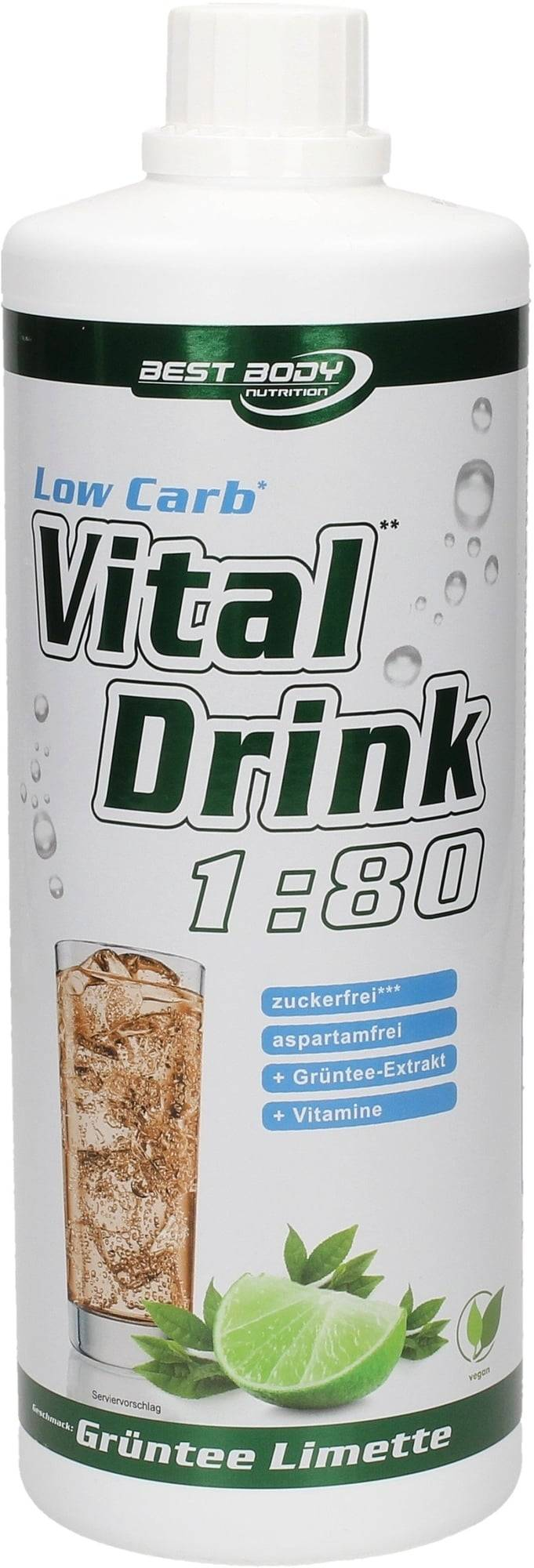 Best Body Nutrition Low Carb Vital Drink - Thé vert-citron vert