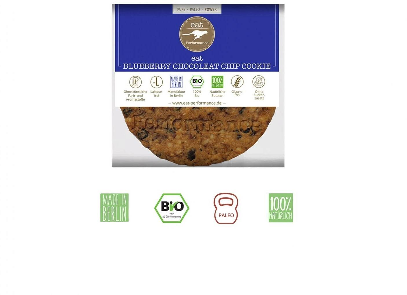 eat performance Cookie Paléo - Blueberry Chocoleat Chip