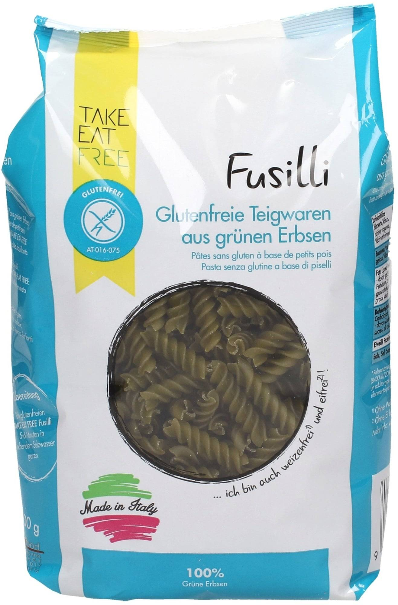 TAKE EAT FREE Fusillis Verts - 500 g
