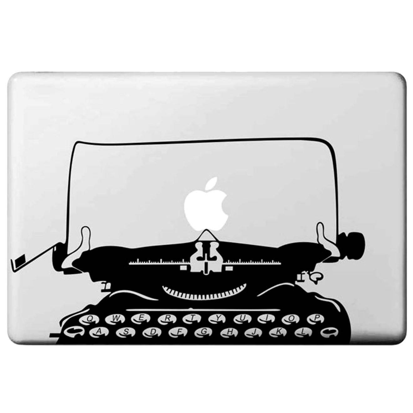 Doumie Autocollant MacBook Pro/Air machine à écrire - transparent/noir