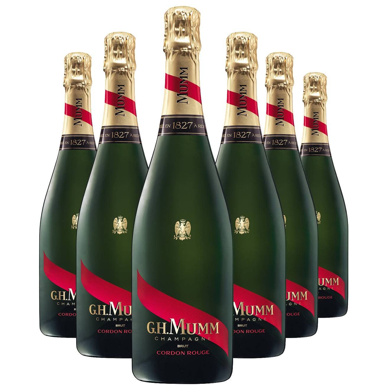 Champagne - 6 Champagne G.H. Mumm Brut Cordon Rouge 75cl