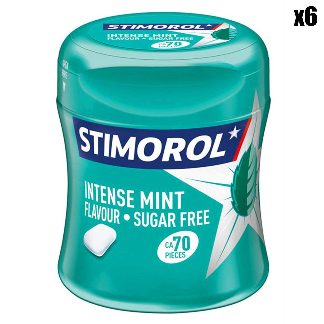 sitmorol - 6 Boîtes de Chewing-gums Intense Mint