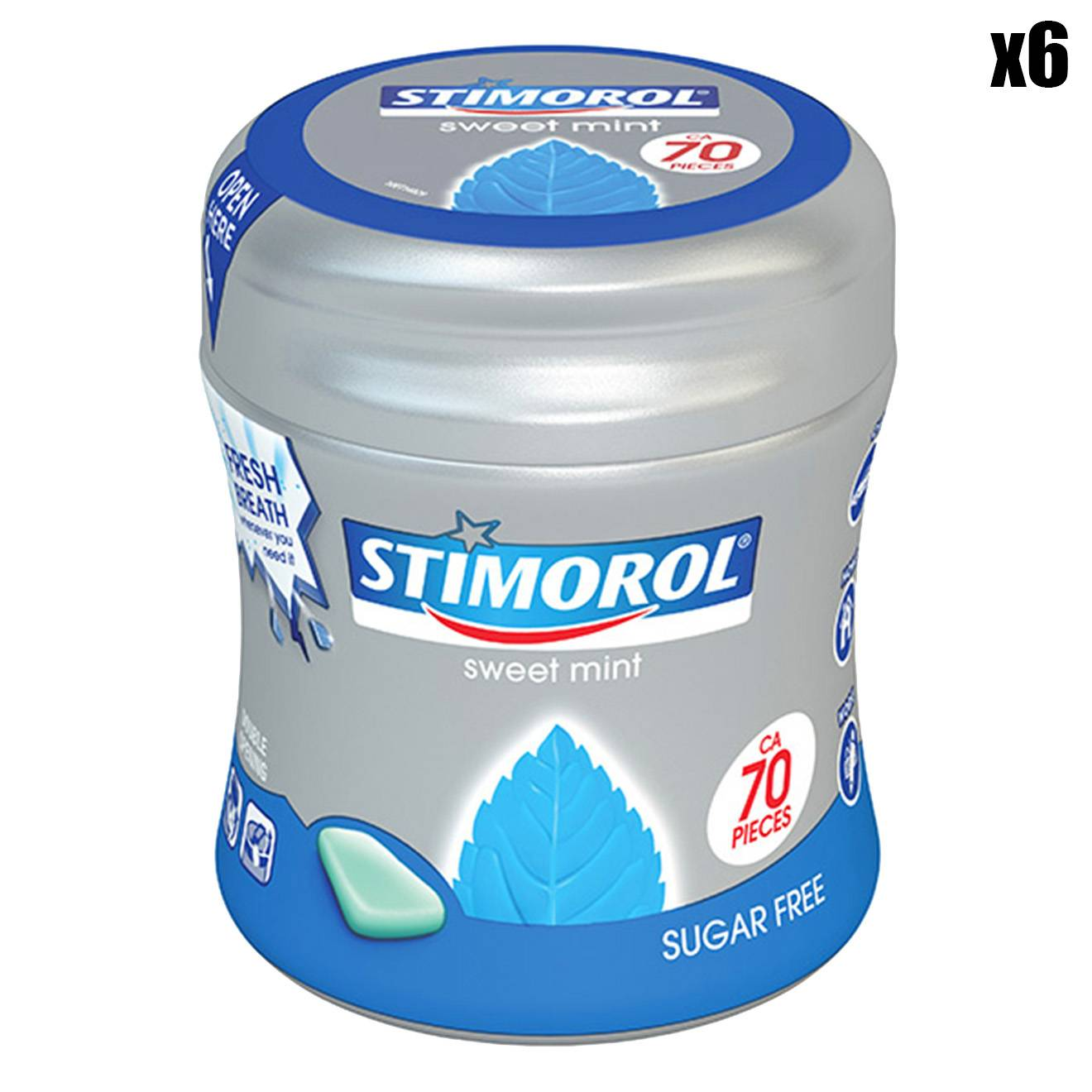 sitmorol - 6 Boîtes de Chewing-gums Sweet Mint