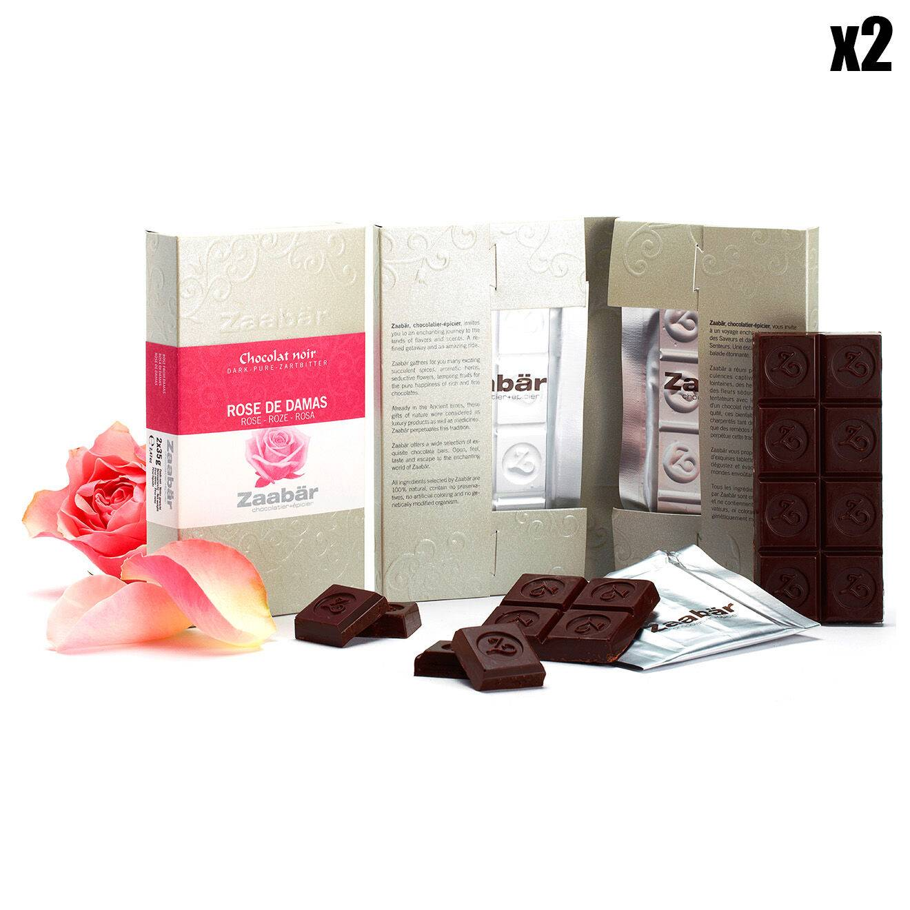 Zaabar - 2 Lots de 2 Tablettes Duo Rose de Damas 4x35g