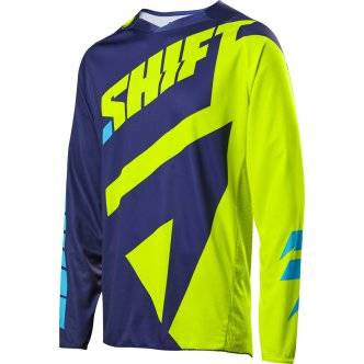 SHIFT Maillot off road SHIFT Black Label Mainline 2017 Flo Yellow
