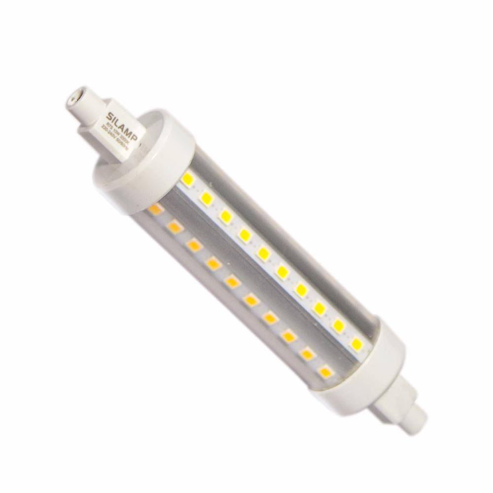 Silamp Ampoule LED R7S 118mm SMD2835 10W 220V 60LED 360 - couleur eclairage : Blanc Froid 6000K - 8000K