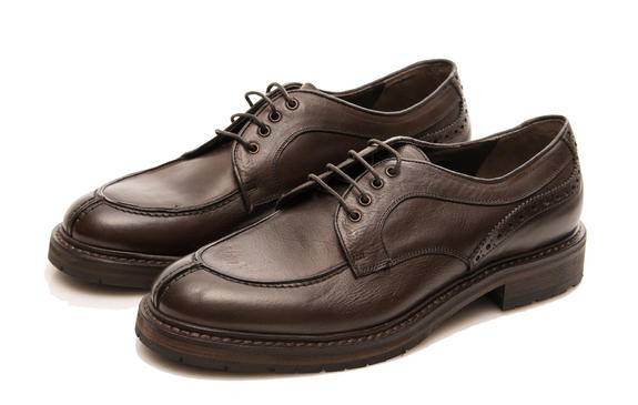 MINORONZONI 1953 lacets Chaussures en cuir, Made in Italy