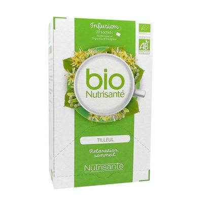 NUTRISANTE Infusion Bio Tilleul Relaxation Sommeil - 20 sachets