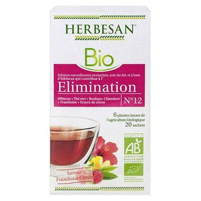 HERBESAN BIO Elimination Infusion - 20 sachets