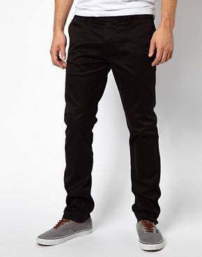 Diesel - Chi Tight E - Pantalon chino slim délavé - Noir