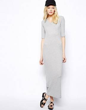 Just Female - Maxi robe en jersey style 90's - Gris
