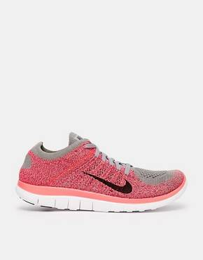 Nike - Free 4.0 Flyknit - Baskets - Gris - Anthracite/noir