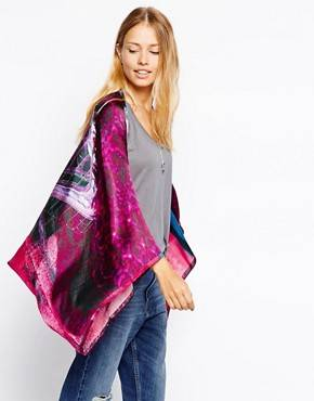 Ted Baker Road To Nowhere Cape Scarf - Rose moyen