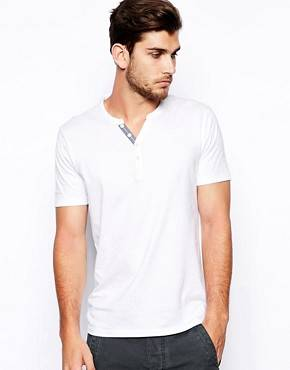 Selected - T-shirt grand-père en coton pima - Blanc