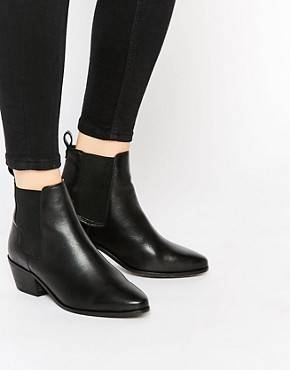 Dune - Petra - Bottines chelsea pointues - Noir - Noir
