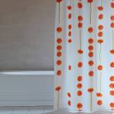 Grund Rideau de douche Gerbere - 2 dimensions disponibles - Orange (120 x 200 cm)