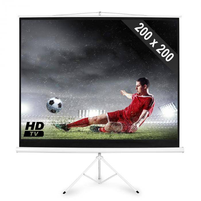 FrontStage Electronic Star Ecran de projection 284cm 200x200 1:1