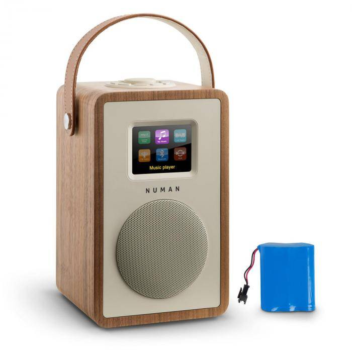 Numan Mini Two Radio internet design WiFi DLNA Bluetooth FM batterie - marron