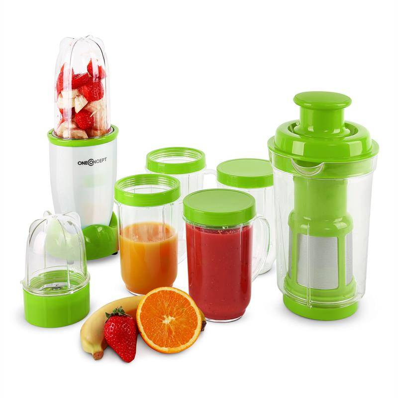 Smoothy mixeur 350w 18 pi�ces vert/blanc