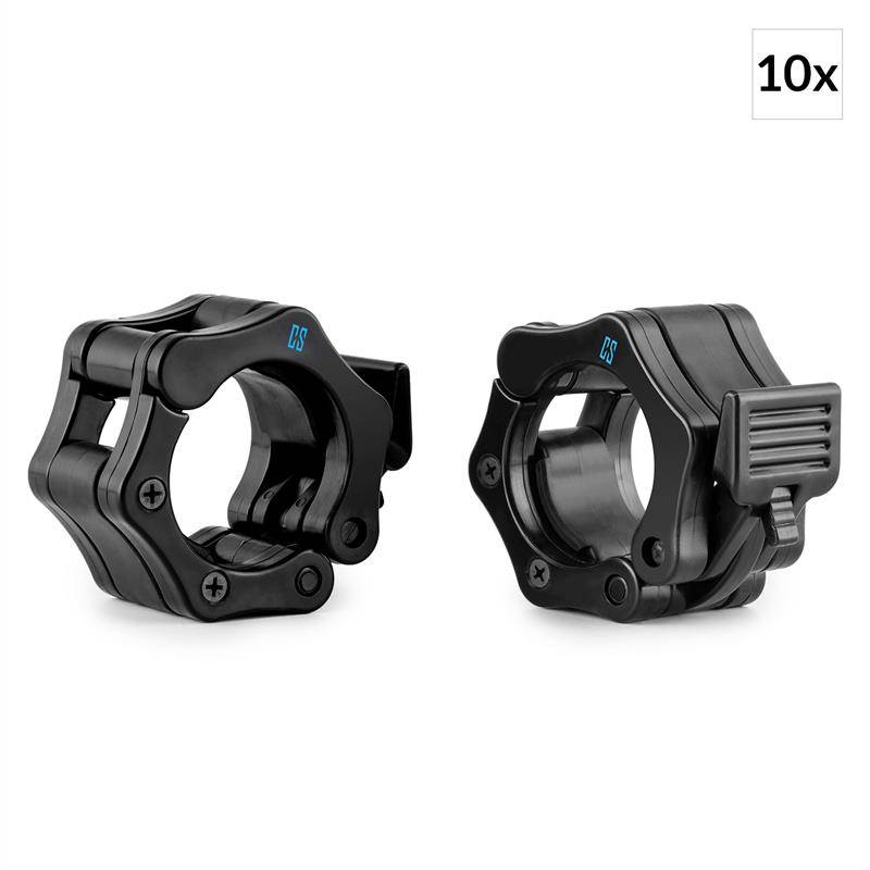 Capital Sports Chops Set de 10 paires de fixations barre haltères 50mm -noir