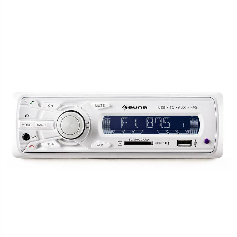 auna MD-120 Autoradio USB SD MP3 Line-Out -blanc