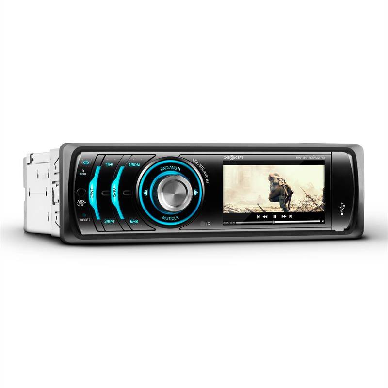 Mdd 150 bt autoradio bluetooth 7 5 cm 3 lecteur photo video mp3 usb sd fm rds aux