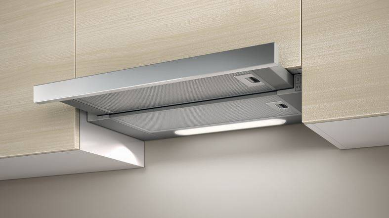 Hotte encastrable elite 14 lux 90 cm acier inox