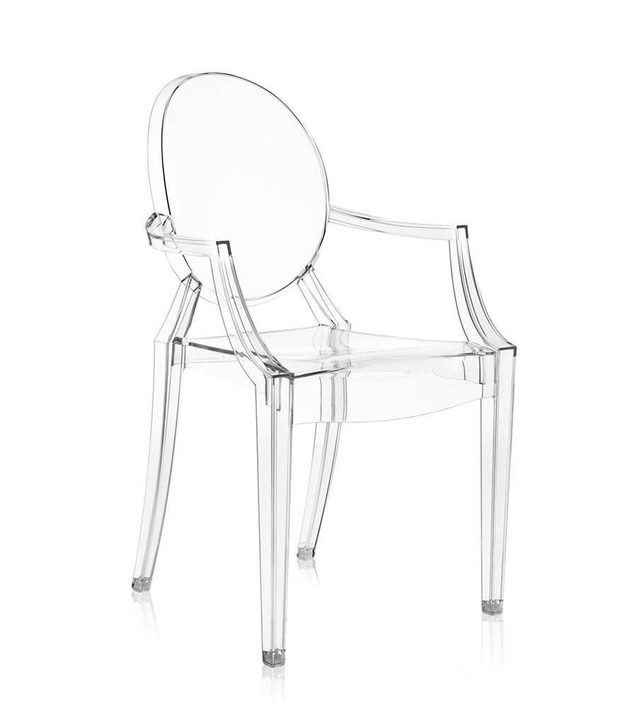 KARTELL chaise LOUIS GHOST (Cristal - Polycarbonate transparent)