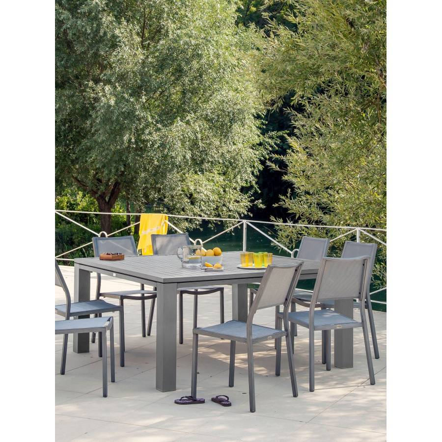 Proloisirs Table Fiero 160 Gris Ice