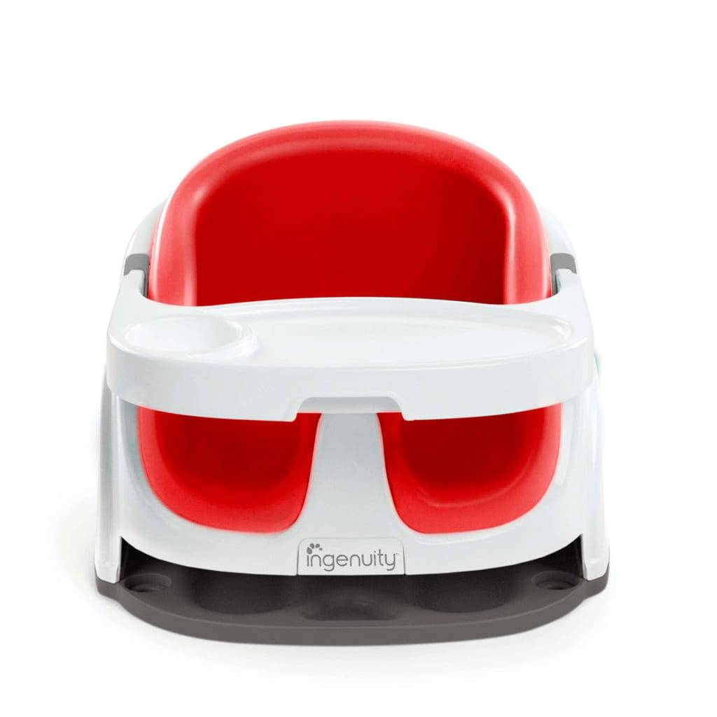 Ingenuity Rehausseur Baby Base 2-in-1 Rouge coquelicot