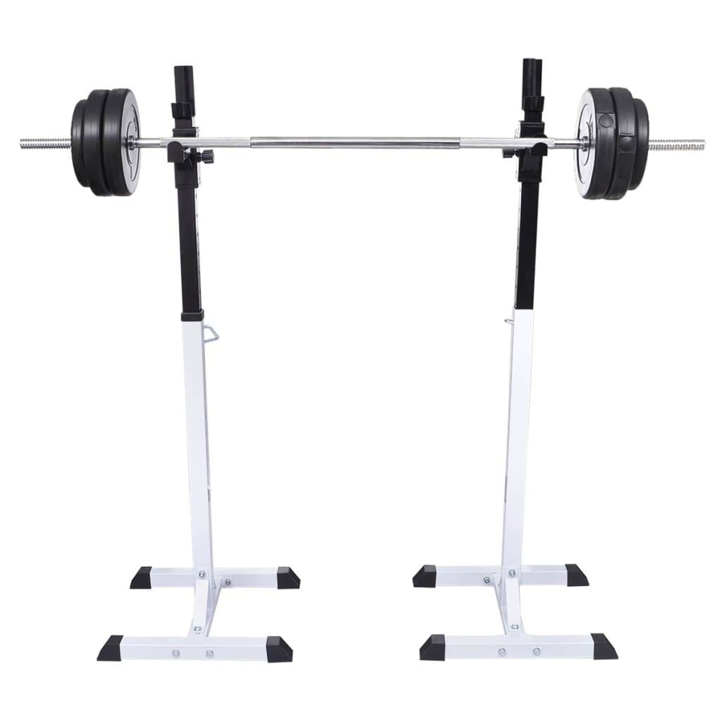 vidaXL Support barres haltères longs musculation