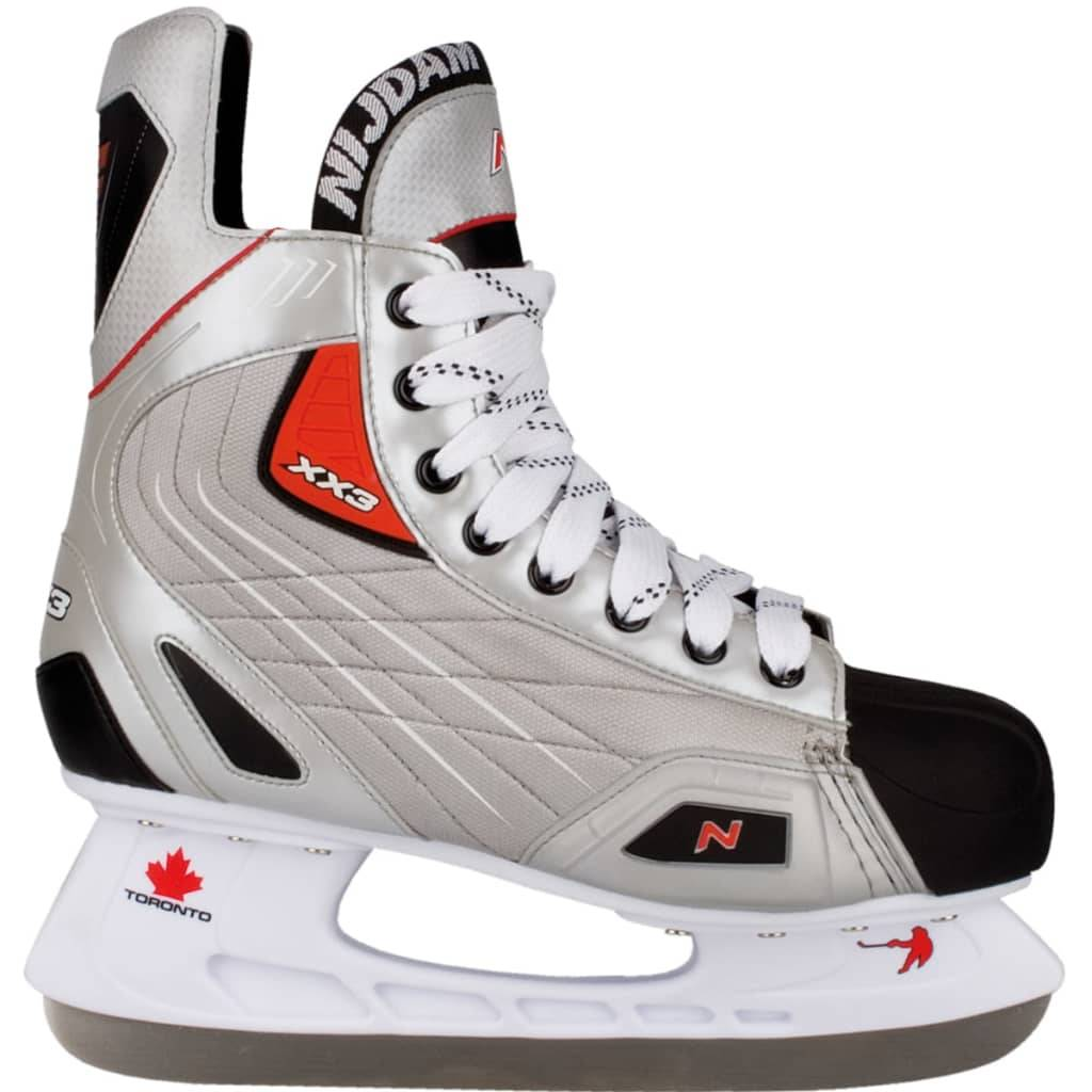 Nijdam patins de hockey sur glace polyester taille 43 3385-ZZR-43