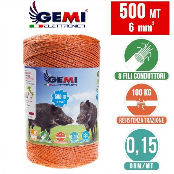 1000 mt of 4mm double circular conducting wire