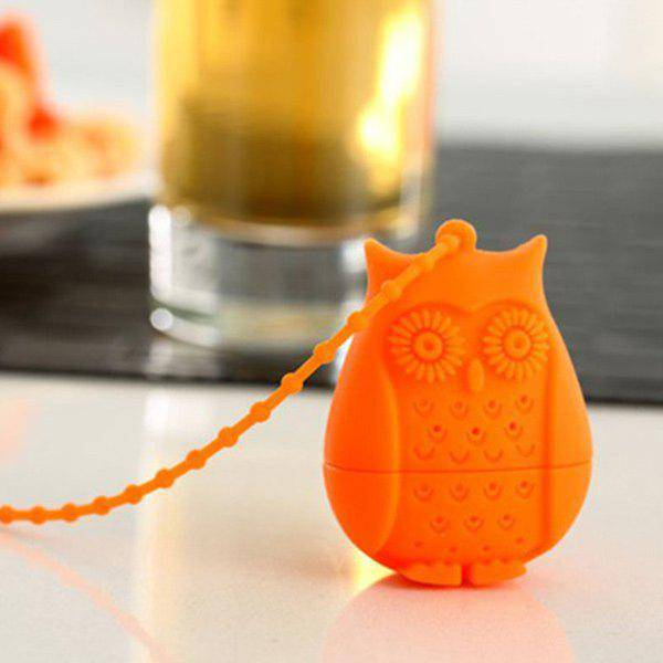 rosegal Creative Shape Owl Cartoon Silicon thé Infusers