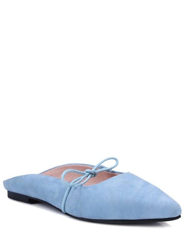 Zaful Bout pointu bowknot solide Couleur Sandales