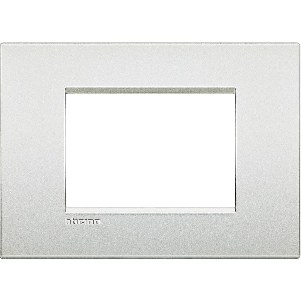 BTICINO Plaque Livinglight Air Neutre 3 modules - Perle blanche