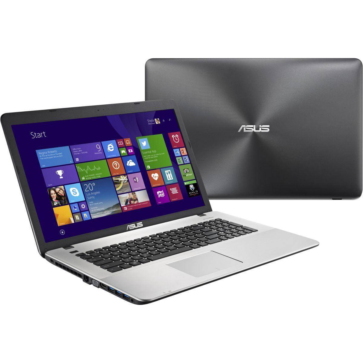 Asus R752LX-TY056H 17 Core I5-5200U 2.2 GHz HDD 1 To RAM 8 Go
