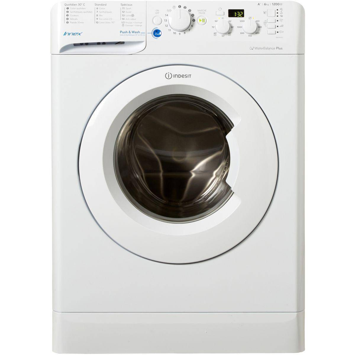 Indesit Lave-linge frontal INDESIT BWD 61252 W FR Reconditionné à neuf