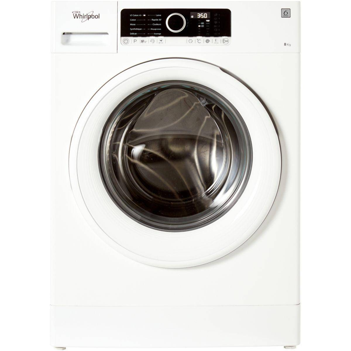 Whirlpool Lave-linge frontal WHIRLPOOL FSCR 80413 Reconditionné à neuf