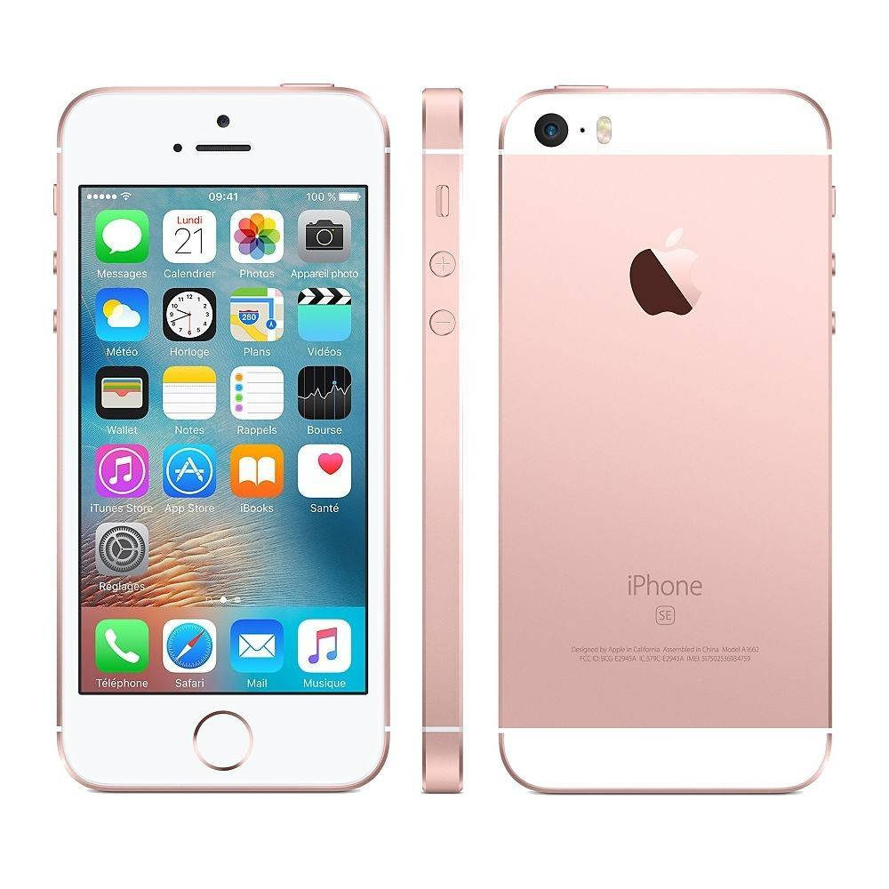 Apple Iphone SE 64gb or rose comme neuf