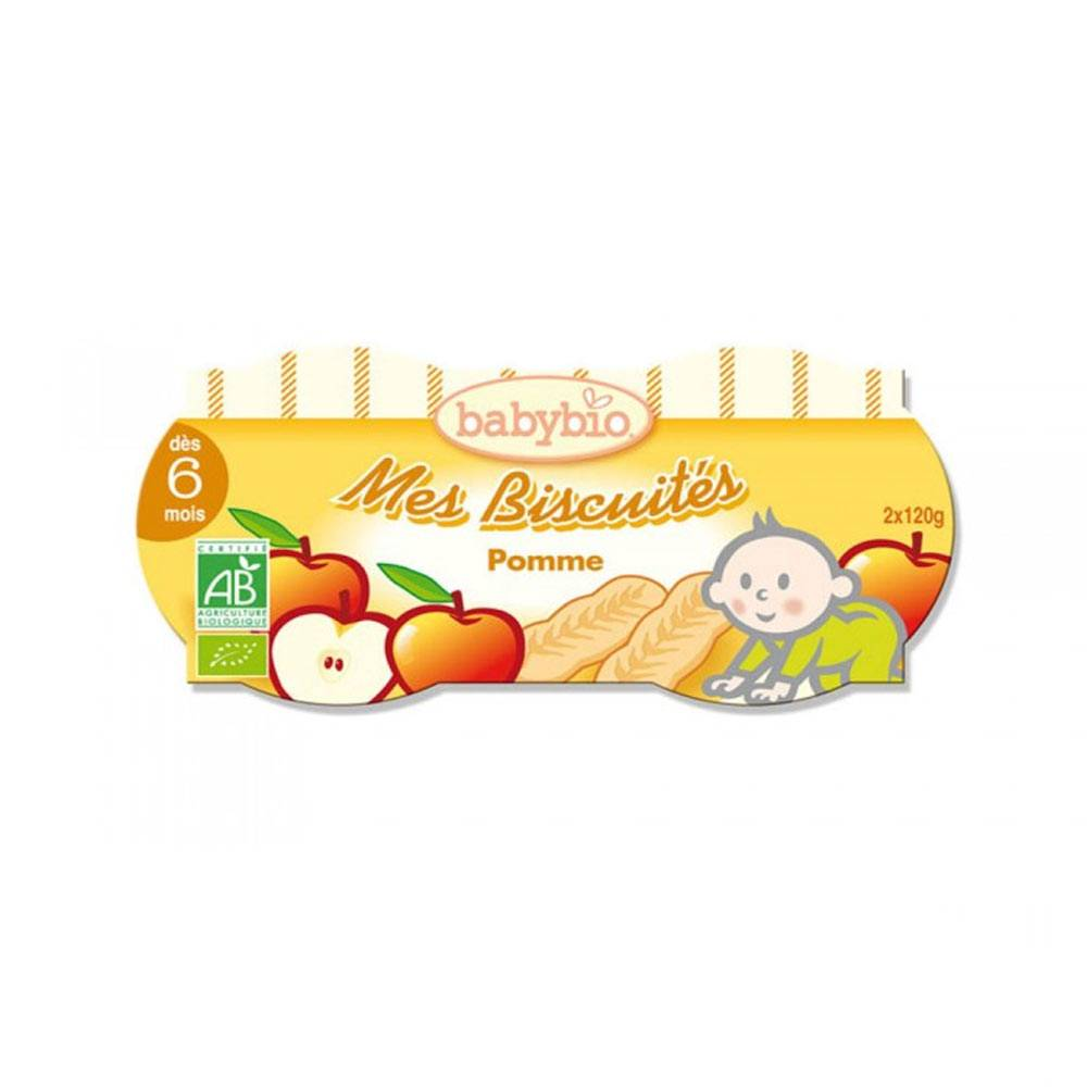 babybio bol mes biscuites des 6 mois 2x120g-biscuits pomme