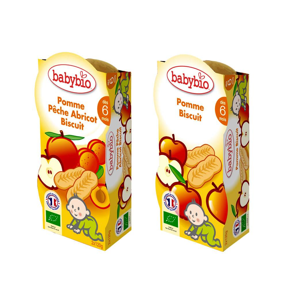 babybio bol mes biscuites des 6 mois 2x120g-biscut pomme peche abricot