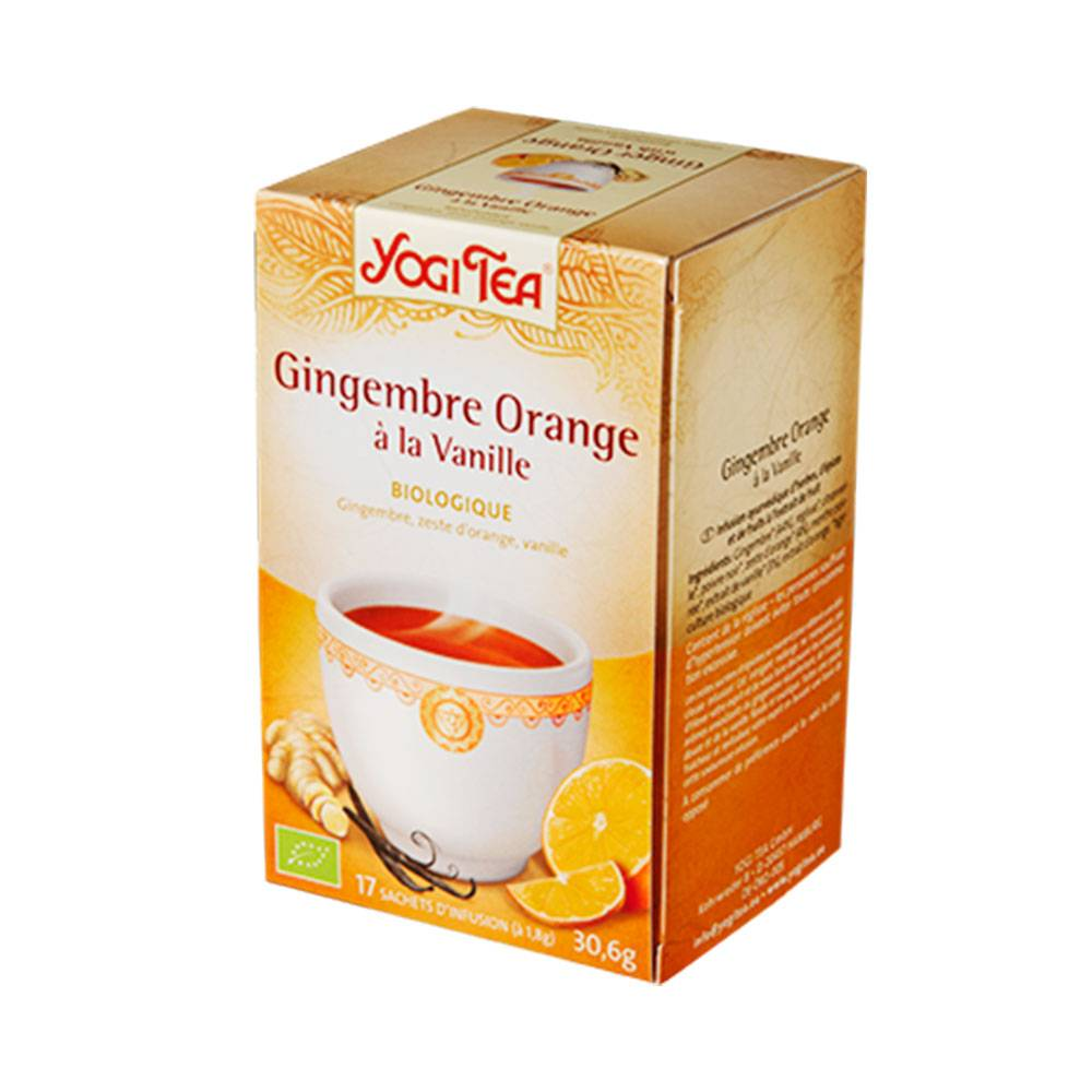 YOGI TEA GINGEMBRE ORANGE 17 SACHETS